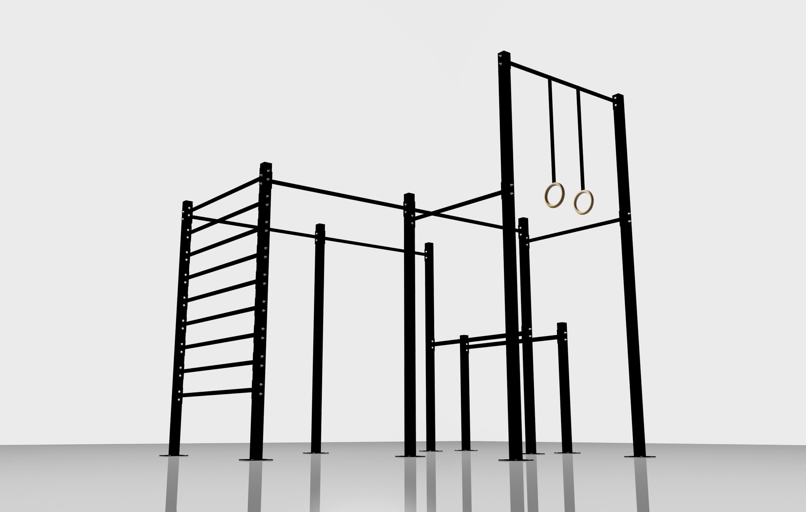Racks jaulas y gimnasios para crossfit calistenia y - Material de gimnasio para casa ...